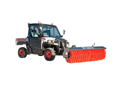 Utility Vehicle Angle Broom Attachment